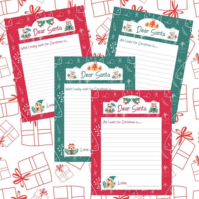 Dear Santa free printable letter to Santa