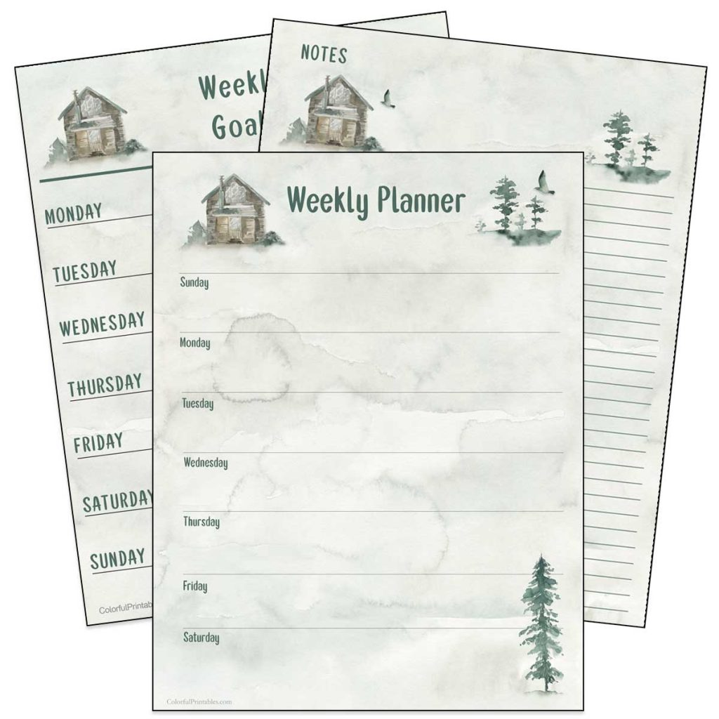 Cabin in the woods free printables