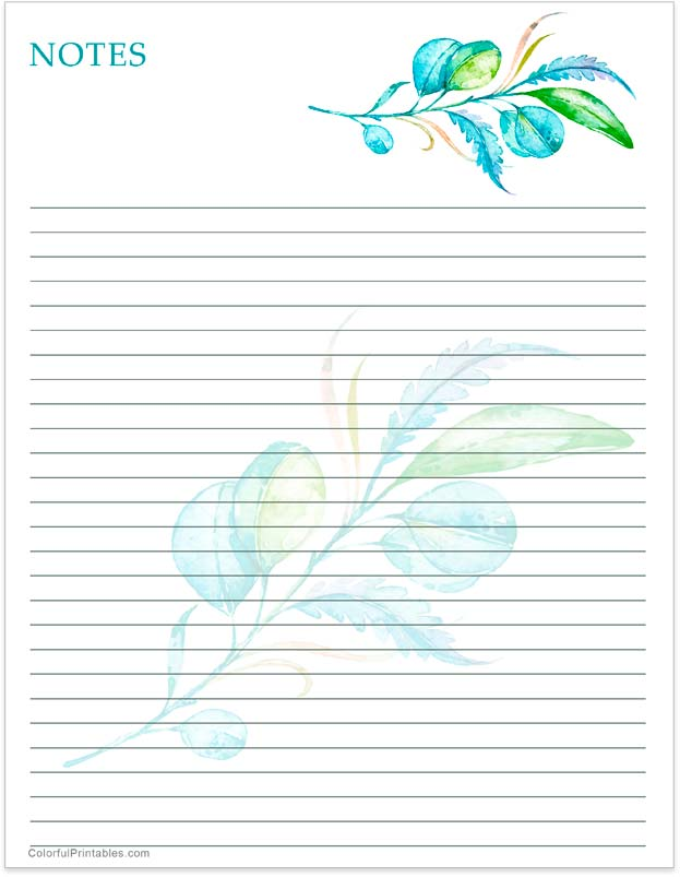 Notes printable